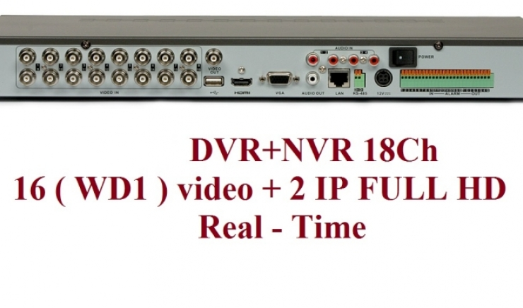 Dvr 16 ch analogici 2 ch IP Real Time HIKVISION